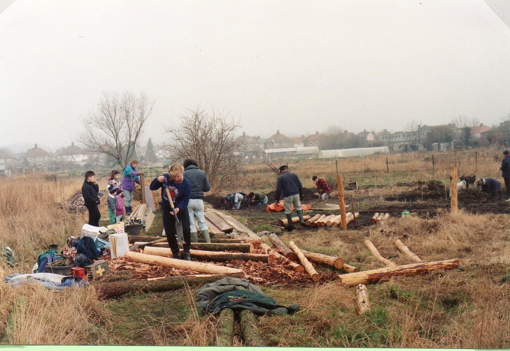 In February 1992, volunteers start work on the Wildlife Garden