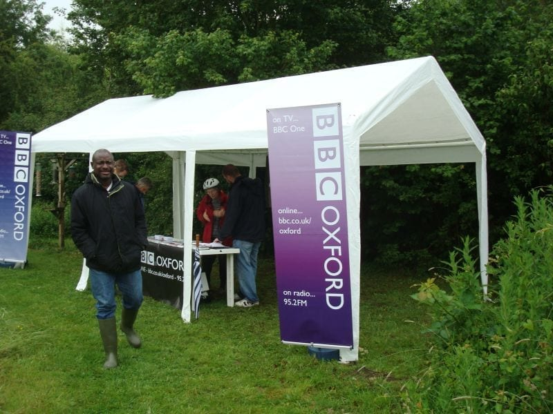 Radio Oxford visit in 2009, for the 'Dirty Weekend' event