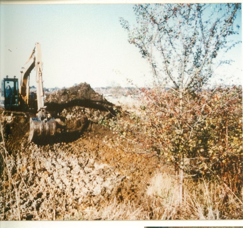 The pond is dug in 1990